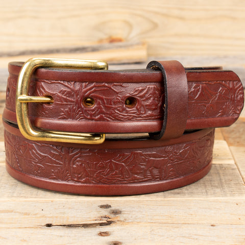 Embossed Wildlife belt