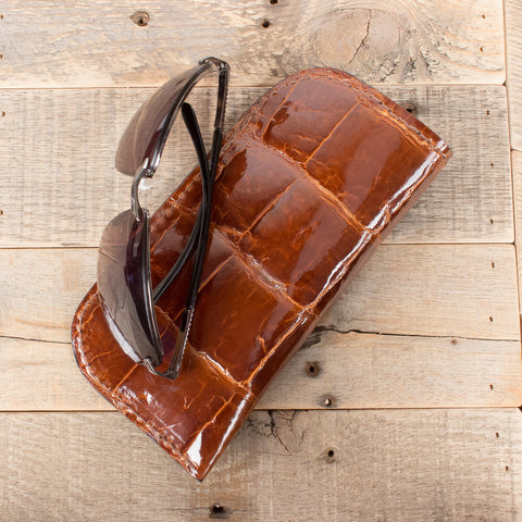 alligator skin glasses case