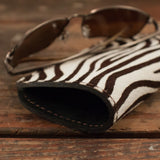 Soft Zebra Print Eyeglass Case