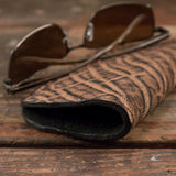 Rustic Brown Elephant Soft Eyeglass Case