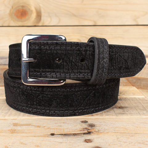 Black Hippo Leather Belt