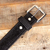 Black Hippo Skin Belt