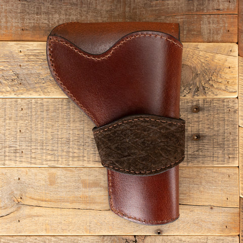 Brown Hippo Revolver Holster