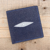 Navy Blue Jumbo Stingray Wallet