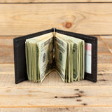 Narrow Leather Elephant Wallet