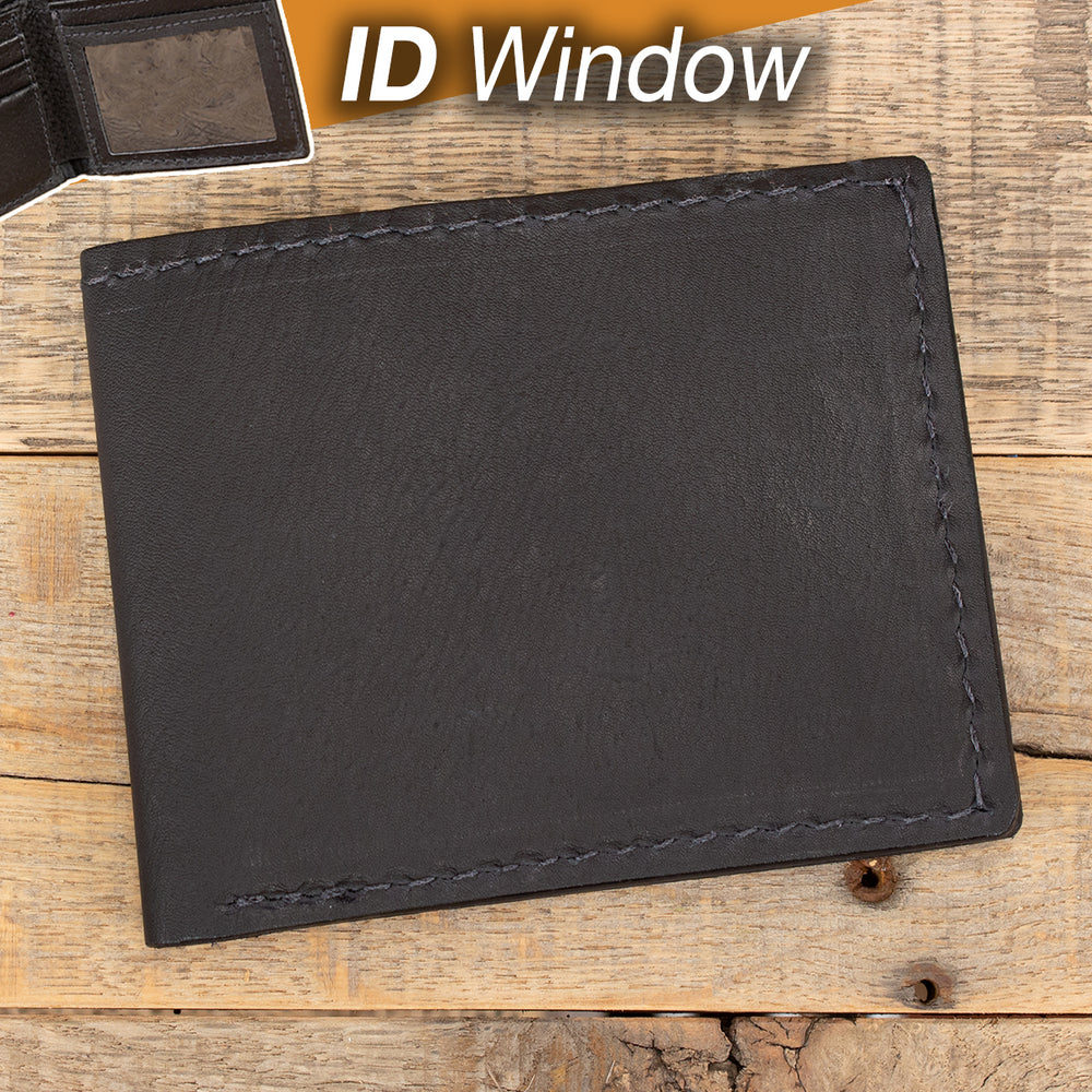 Black Kangaroo Leather Wallet