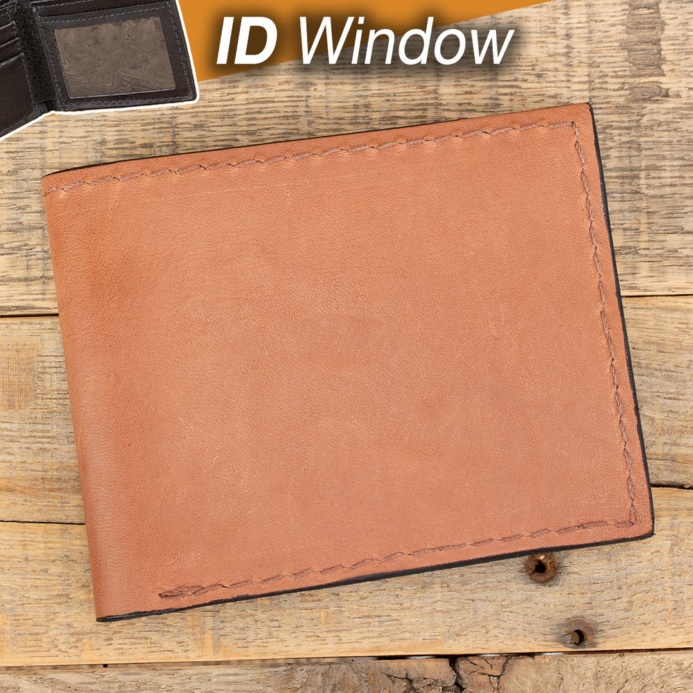 Tan Kangaroo Leather Wallet