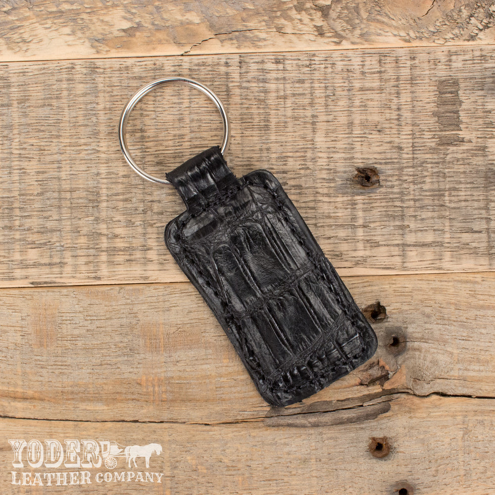 Alligator Leather Key Fob