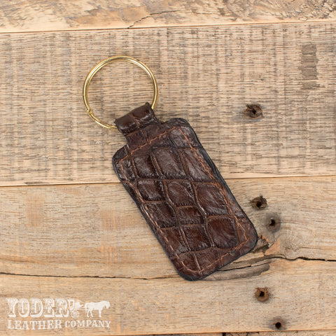 Alligator Brown Keychain