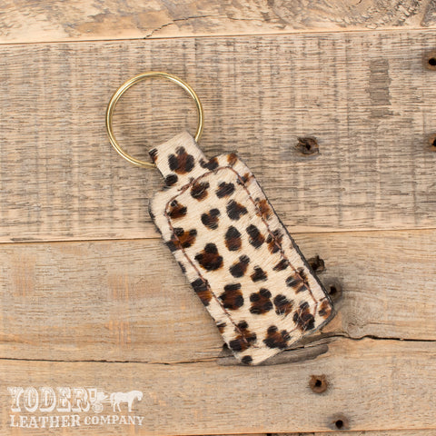 Cheetah Print Key Fob
