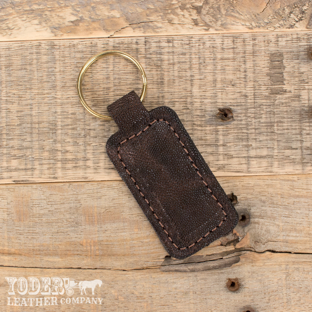 Dark Brown Elephant Key Fob