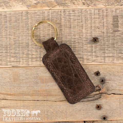 Hippo Leather Key Fob