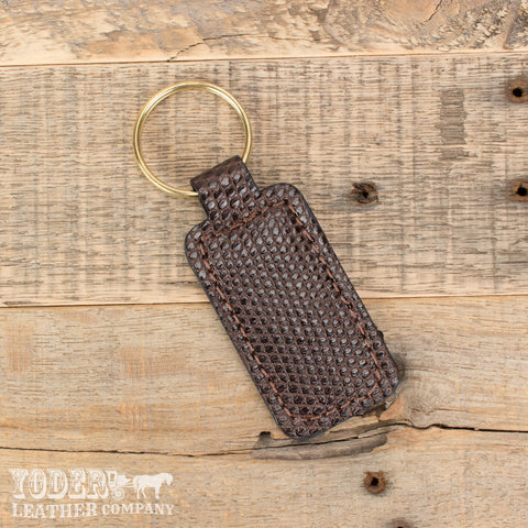 Brown Tegu Lizard Key Fob