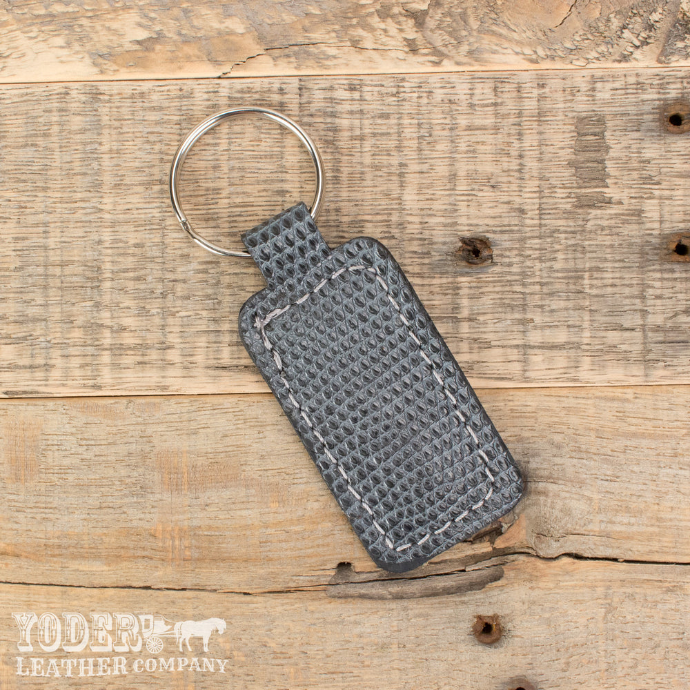 Tegu Lizard Leather Key Fob