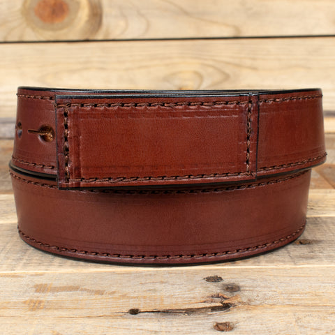 Mechanics Brown Leather Belt