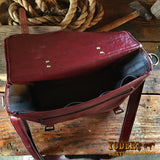 Burgundy Leather Computer Bag