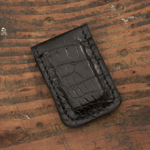 Alligator Skin Leather Money Clip