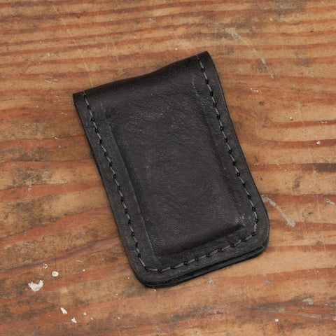 Bison Leather Magnetic Money Clip