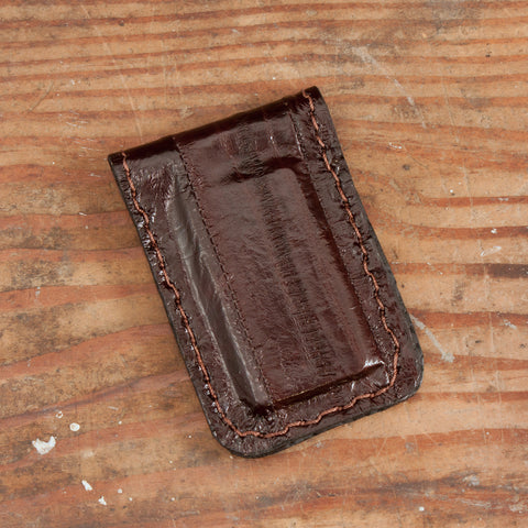 Brown Eel Cash Clip