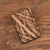 Rustic Brown Elephant Leather Money Clip