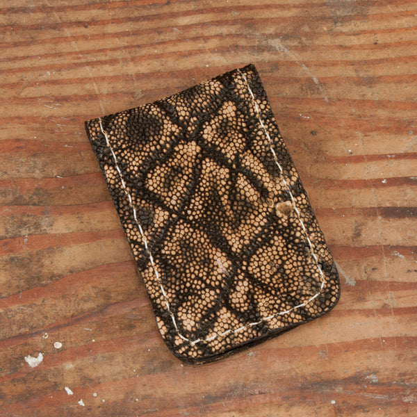 Treebark Elephant Leather Money Clip