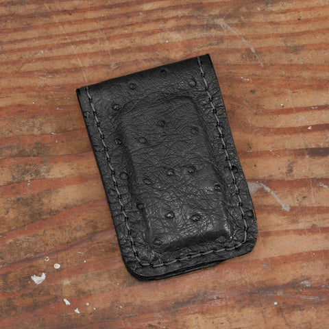 Ostrich Money Clip Leather