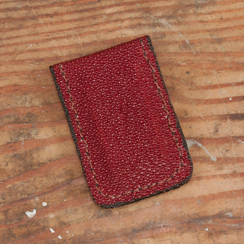 Red Stringray Magnetic Money Clip