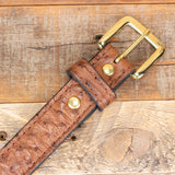Brown Ostrich Belt