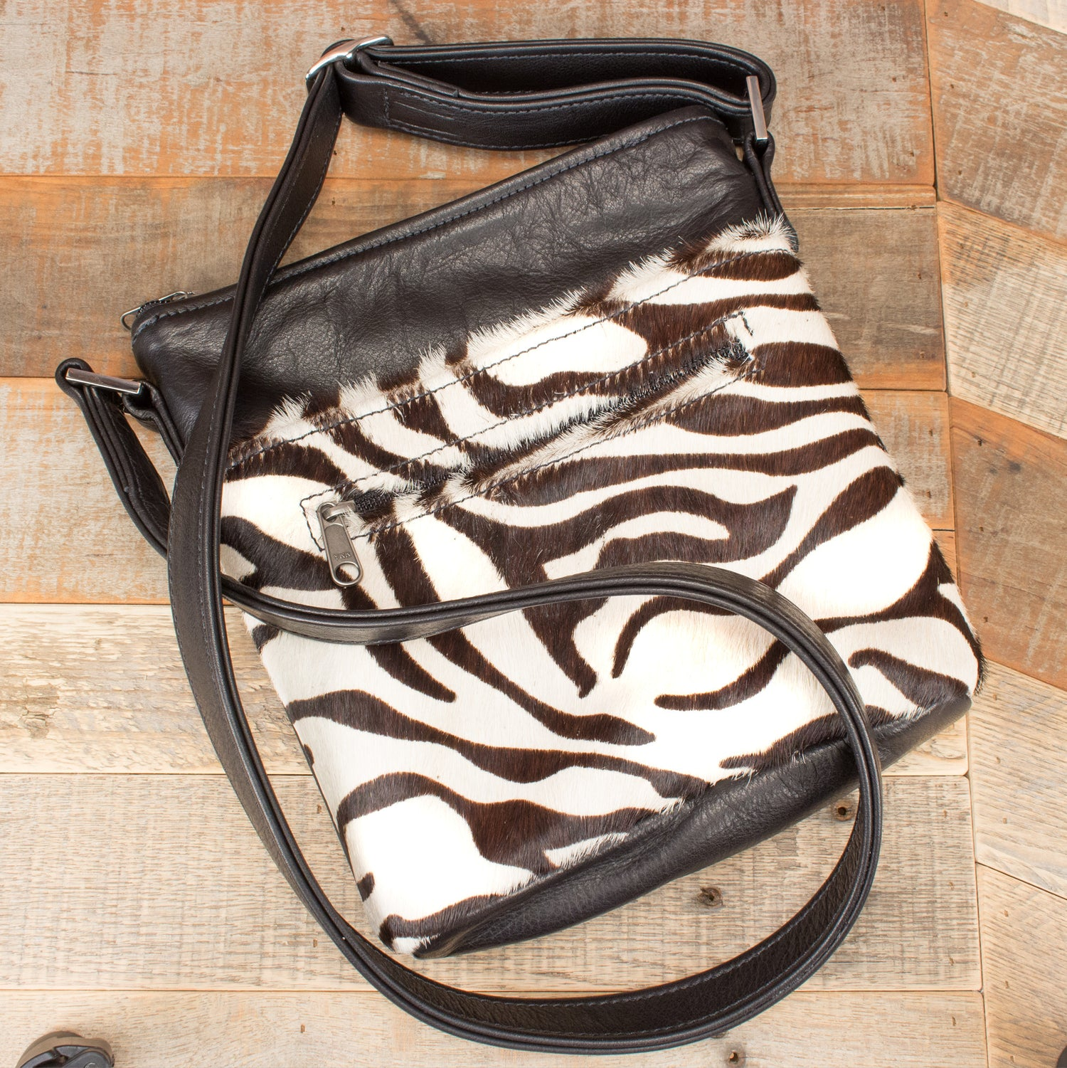 Furry Zebra Purse