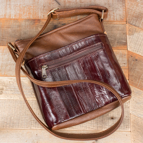Brown Eel Leather Purse bag