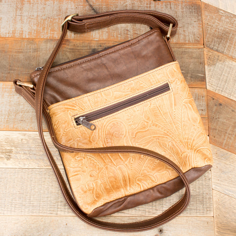 Dark Brown Leather Crossbody Handbag