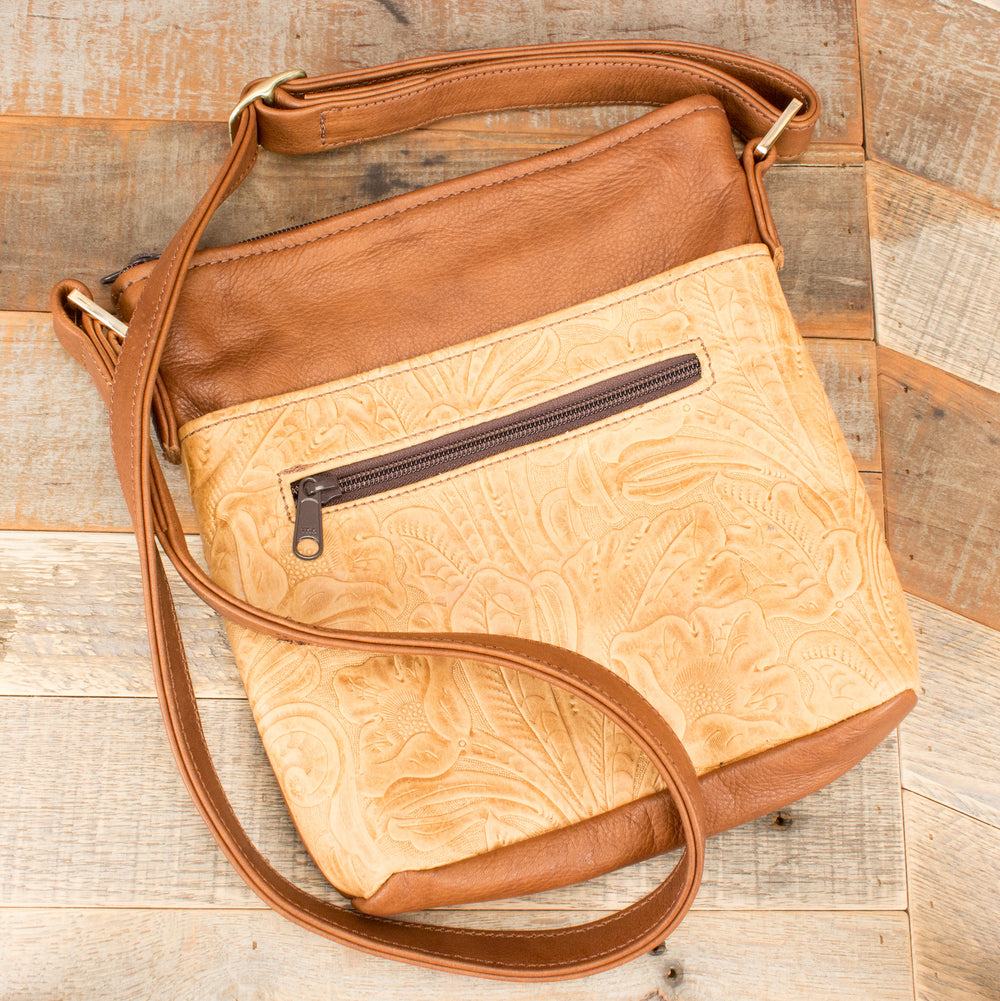 Light Brown Leather Handbag Purse