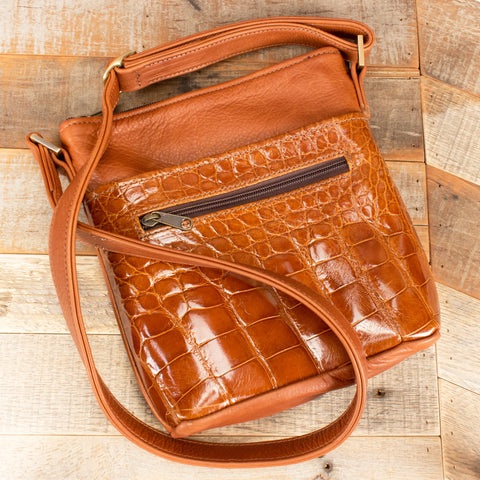 Alligator Purse Cognac