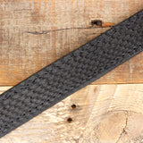 python leather belt black
