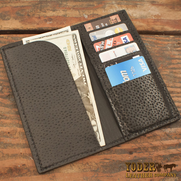 Brown Ostrich Rodeo Checkbook Wallet Yoder Leather Company
