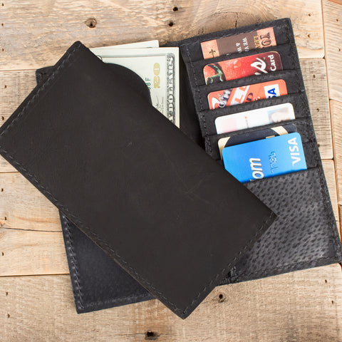 Black Kangaroo Checkbook Wallet