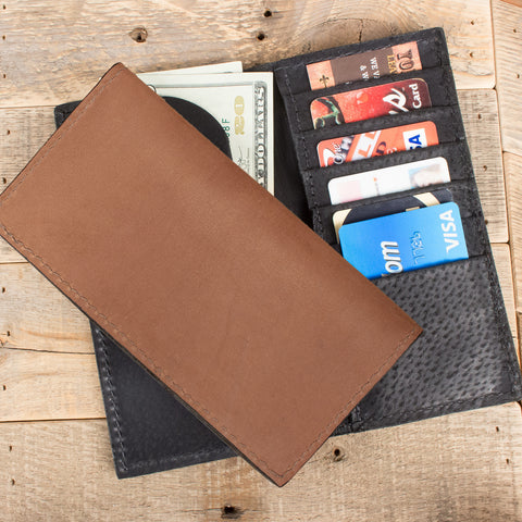 Tan Kangaroo Checkbook Wallet