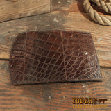 Brown Alligator Clutch