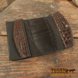 Alligator Brown Clutch Handbag