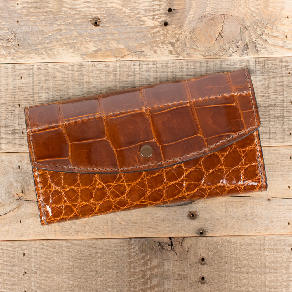Alligator Skin Leather Women's Purse