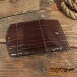 Eel Leather Clutch Wallet