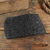 Black elephant clutch wallet