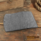 gray elephant clutch wallet