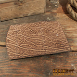 rustic brown clutch wallet
