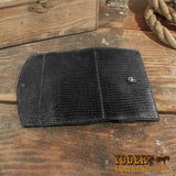 Black Tegu lizard clutch wallet