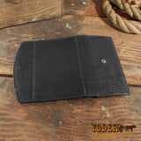 Black Sharkskin Clutch Wallet