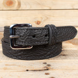 Black Shark Skin Leather Belt