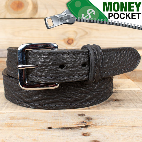 Black Shark Skin Belt