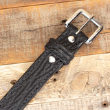 Shark Leather Black Amish Made Belt