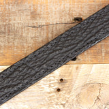 Stitched Black Shark Leather Belt